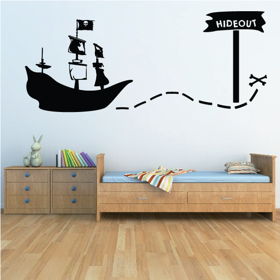Map to Pirate Hideout Decal