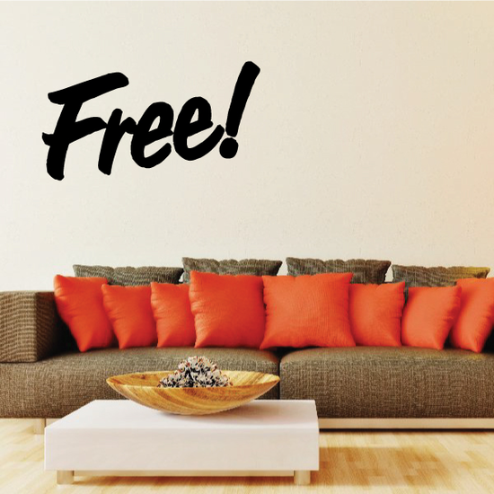 Free Wall Decal - Vinyl Decal - Car Decal - Business Sign - MC315