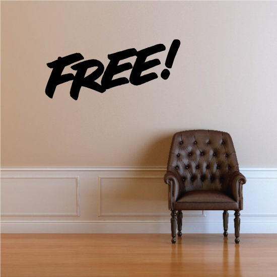 Free Wall Decal - Vinyl Decal - Car Decal - Business Sign - MC316