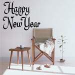 Happy New Year Wall Decal - Vinyl Decal - Car Decal - Business Sign - MC321