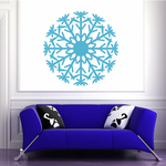 Round Snowflake Decal