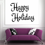 Happy Holiday Wall Decal - Vinyl Decal - Car Decal - Business Sign - MC324