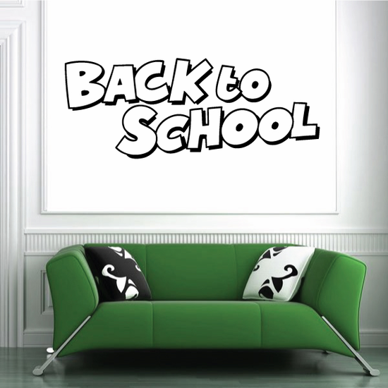 Back To School Wall Decal - Vinyl Decal - Car Decal - Business Sign - MC325