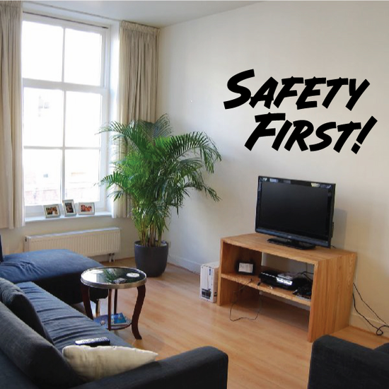 Safety First Wall Decal - Vinyl Decal - Car Decal - Business Sign - MC328