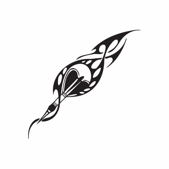 Flaming Throwing Dart Decal
