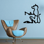 Egyptian Hieroglyphics Seated Cat Decal