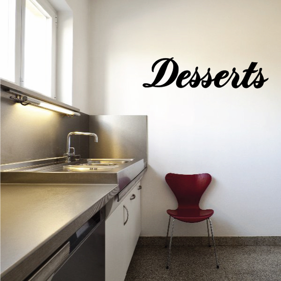 Desserts Wall Decal - Vinyl Decal - Car Decal - Business Sign - MC334