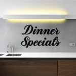 Dinner Specials Wall Decal - Vinyl Decal - Car Decal - Business Sign - MC337