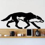Stalking Hunting Wolf Decal