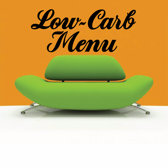 Low Carb Menu Wall Decal - Vinyl Decal - Car Decal - Business Sign - MC344