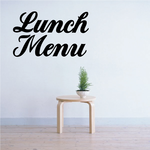 Lunch Menu Wall Decal - Vinyl Decal - Car Decal - Business Sign - MC346