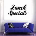 Lunch Specials Wall Decal - Vinyl Decal - Car Decal - Business Sign - MC348