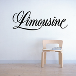 Limousine Wall Decal - Vinyl Decal - Car Decal - Business Sign - MC357