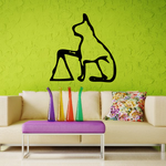 Egyptian Hieroglyphics Cat on Triangle Decal