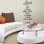 Love Is A Gift Of Ones Inner Most Soul To Another So Both Can Be Whole Buddha Wall Decal