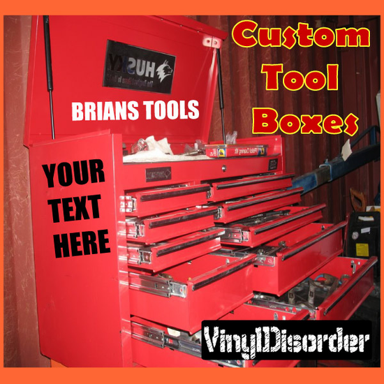 Customize your Toolbox with Any custom text!