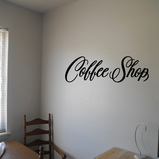 Coffee Shop Wall Decal - Vinyl Decal - Car Decal - Business Sign - MC377