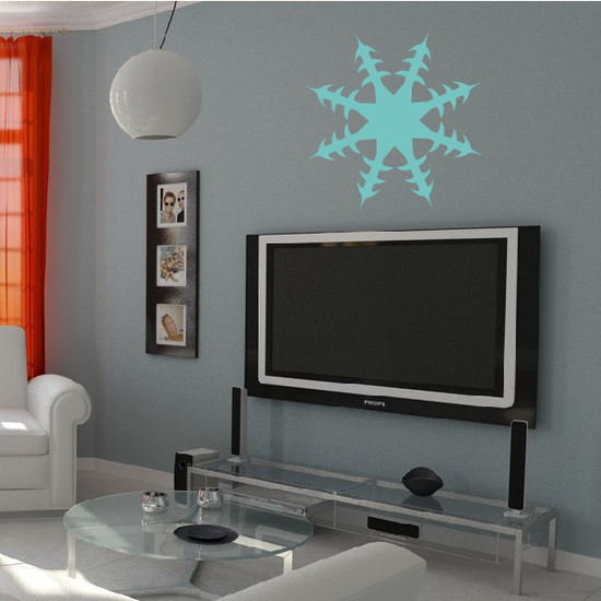 Sector Snowflake Decal