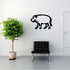 Egyptian Hieroglyphics Walking Hippo Decal