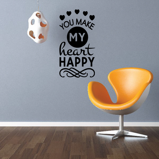 You Make My Heart Happy Decal