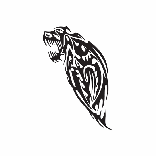 Tribal Corrupt Wolf Head Decal