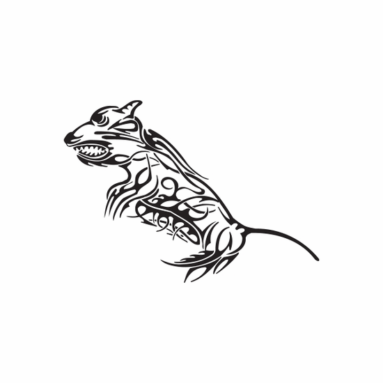 Tribal Mouse Rat Decal