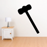 Small Sledgehammer Silhouette Decal