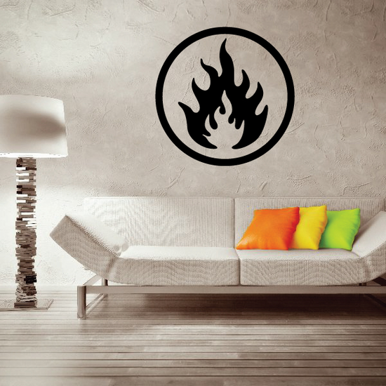 Flammable Fire Wall Decal - Vinyl Decal - Car Decal - Business Sign - MC395