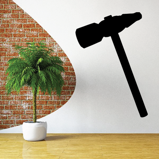Upholstery Hammer Silhouette Decal