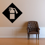 Fire Extinguisher Wall Decal - Vinyl Decal - Car Decal - Business Sign - MC396