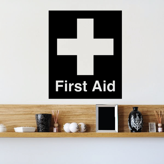 First Aid Station Medical Wall Decal - Vinyl Decal - Car Decal - Business Sign - MC397