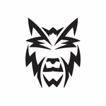 Abstract Humble Wolf Head Decal