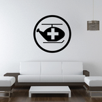 Medical Helicopter Wall Decal - Vinyl Decal - Car Decal - Business Sign - MC398