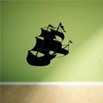 Pirate ship in the Wind Decal