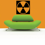 Radiation Toxic Waste Wall Decal - Vinyl Decal - Car Decal - Business Sign - MC404