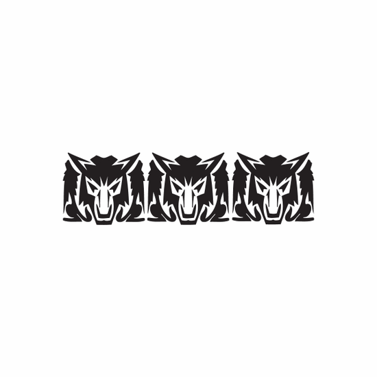 Repeated Wolf Heads Decal