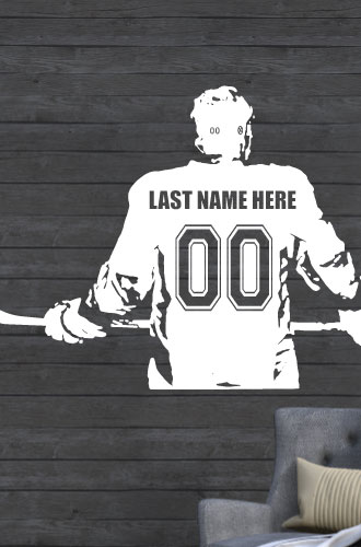 Custom Hockey Player Decal