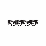 Repeating Walking Wolf Decal