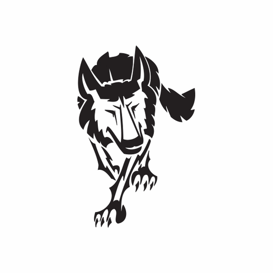 Walking Hunting Wolf Decal