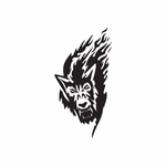 Angry Timber Wolf Decal