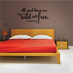 All Good Things Are Wild And Free Homer David Thoreau Wall Decal