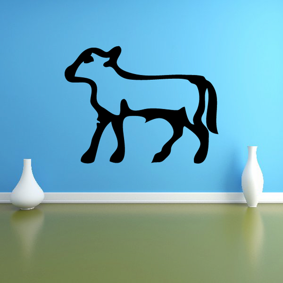 Egyptian Hieroglyphics Walking Lamb Decal