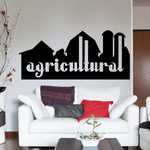 Agricultural Wall Decal - Vinyl Decal - Car Decal - Business Sign - MC484