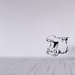Wide Mouth Hippo Decal