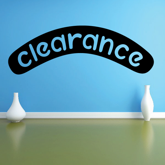 Clearance Wall Decal - Vinyl Decal - Car Decal - Business Sign - MC486
