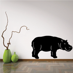 Hippo Looking Decal