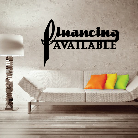 Financing Available Wall Decal - Vinyl Decal - Car Decal - Business Sign - MC491