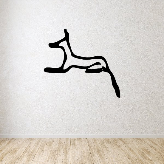 Egyptian Hieroglyphics Reclined Cat Decal