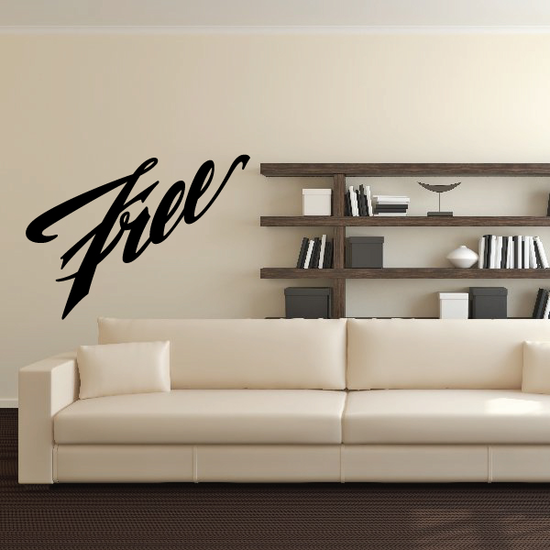 Free Wall Decal - Vinyl Decal - Car Decal - Business Sign - MC492