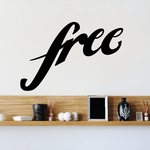 Free Wall Decal - Vinyl Decal - Car Decal - Business Sign - MC493